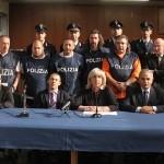 Nella foto della conferenza stampa, seduti da sinistra: Lo Presti, Pesiri, Borgonovo, Bufano e Segre