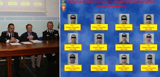 Conferenza stampa e arrestati