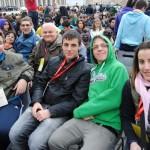 Il gruppo di Casalmorano in piazza S. Pietro