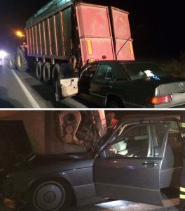 I mezzi dopo l'incidente