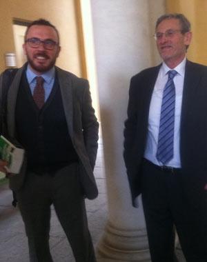 Da sinistra il pm Abbadessa e il procuratore di Martino