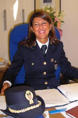 Il comandante della stradale Federica Deledda