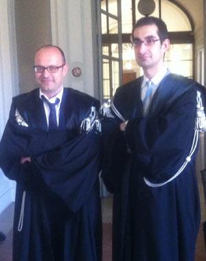 Gli avvocati Invernizzi e Simone