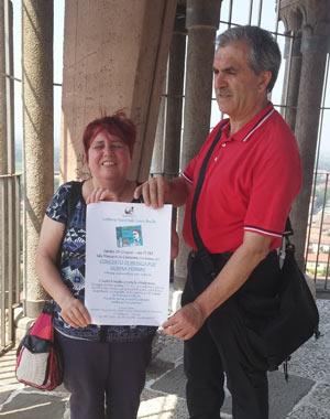 (La presidente UICI Cremona Flavia Tozzi e il Consigliere regionale UICI Genuino Iuzzolino)