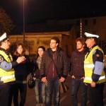Vigili e studenti alla postazione di via Brescia