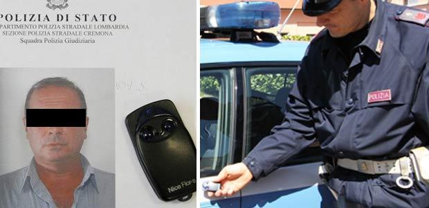 Arrestato il ladro col telecomando