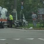 L'incidente (foto di un lettore)