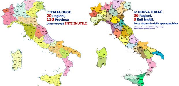 Parma Cartina Geografica Italia.Via Le Province E Nuove Regioni Cremona Con Parma E Piacenza La