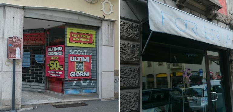 Nuova emorragia di negozi in centro: chiusa la Forneria Al Teatro ...