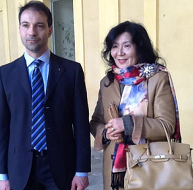 L'avvocato Bazzano e la vedova di Protti Masako Tanaka