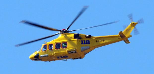 Elicottero Niguarda : Due giovani operai ustionati col nylon fuso a castel